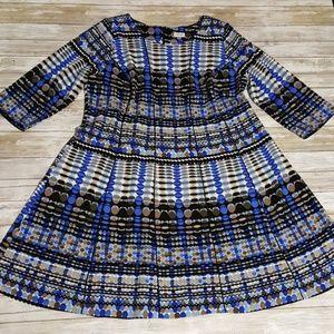 Avenue 18 Dress Blue Stretch